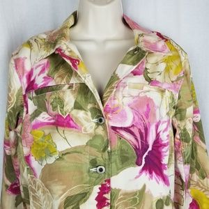 Caribbean Joe Jackets & Coats - Caribbean Joe jacket size M pink green white